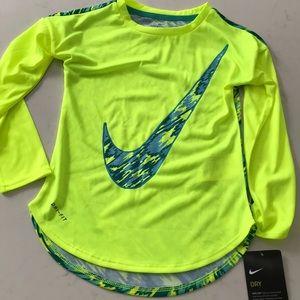 Nike dri fit girls athletic shirt